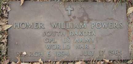 POWERS, HOMER WILLIAM (WWI) - Minnehaha County, South Dakota   HOMER WILLIAM (WWI) POWERS - South Dakota Gravestone Photos