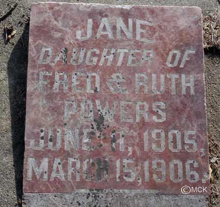 POWERS, JANE - Minnehaha County, South Dakota | JANE POWERS - South Dakota Gravestone Photos