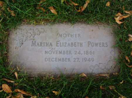 POWERS, MARTHA ELIZABETH - Minnehaha County, South Dakota | MARTHA ELIZABETH POWERS - South Dakota Gravestone Photos