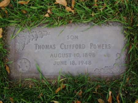 POWERS, THOMAS CLIFFORD - Minnehaha County, South Dakota | THOMAS CLIFFORD POWERS - South Dakota Gravestone Photos