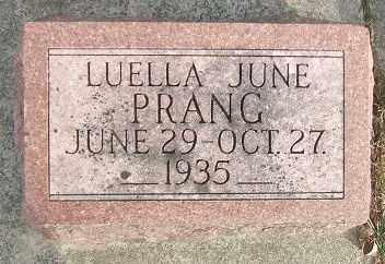 PRANG, LUELLA JUNE - Minnehaha County, South Dakota   LUELLA JUNE PRANG - South Dakota Gravestone Photos