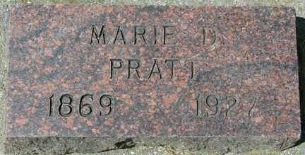 PRATT, MARIE D. - Minnehaha County, South Dakota | MARIE D. PRATT - South Dakota Gravestone Photos