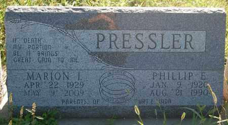 PRESSLER, MARION I. - Minnehaha County, South Dakota | MARION I. PRESSLER - South Dakota Gravestone Photos