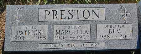 PRESTON, MARCELLA - Minnehaha County, South Dakota | MARCELLA PRESTON - South Dakota Gravestone Photos