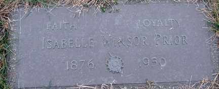 WINDSOR PRIOR, ISABELLE - Minnehaha County, South Dakota | ISABELLE WINDSOR PRIOR - South Dakota Gravestone Photos