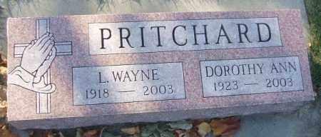 PRITCHARD, L. WAYNE - Minnehaha County, South Dakota | L. WAYNE PRITCHARD - South Dakota Gravestone Photos