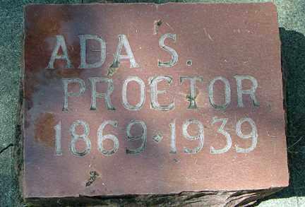 PROETOR, ADA S. - Minnehaha County, South Dakota   ADA S. PROETOR - South Dakota Gravestone Photos