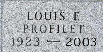 PROFILET, LOUIS E. - Minnehaha County, South Dakota   LOUIS E. PROFILET - South Dakota Gravestone Photos