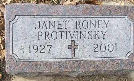 PROTIVINSKY, JANET - Minnehaha County, South Dakota | JANET PROTIVINSKY - South Dakota Gravestone Photos