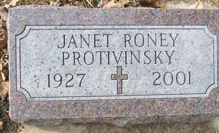 PROTIVINSKY, JANET - Minnehaha County, South Dakota | JANET PROTIVINSKY - South Dakota Gravestone Photos