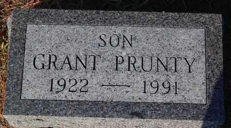 PRUNTY, GRANT - Minnehaha County, South Dakota | GRANT PRUNTY - South Dakota Gravestone Photos