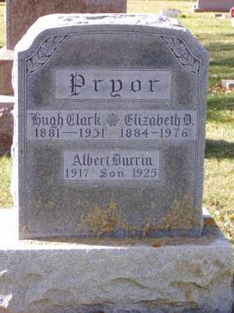 PRYOR, HUGH CLARK - Minnehaha County, South Dakota | HUGH CLARK PRYOR - South Dakota Gravestone Photos