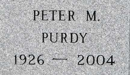 PURDY, PETER  MORRELL - Minnehaha County, South Dakota | PETER  MORRELL PURDY - South Dakota Gravestone Photos
