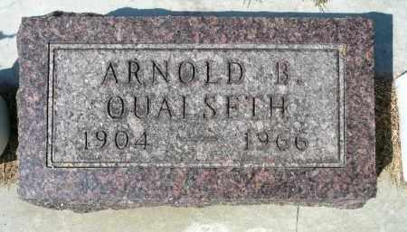 QUALSETH, ARNOLD B. - Minnehaha County, South Dakota   ARNOLD B. QUALSETH - South Dakota Gravestone Photos
