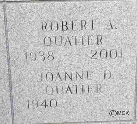 QUATIER, ROBERT A. - Minnehaha County, South Dakota | ROBERT A. QUATIER - South Dakota Gravestone Photos