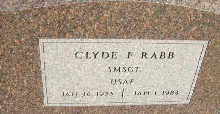 RABB, CLYDE F. - Minnehaha County, South Dakota | CLYDE F. RABB - South Dakota Gravestone Photos