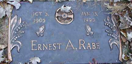 RABE, ERNEST A. - Minnehaha County, South Dakota | ERNEST A. RABE - South Dakota Gravestone Photos