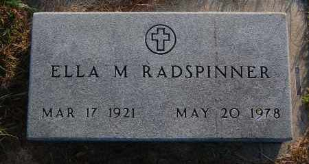 RADSPINNER, ELLA M. - Minnehaha County, South Dakota | ELLA M. RADSPINNER - South Dakota Gravestone Photos