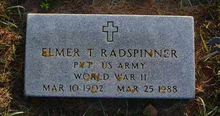 RADSPINNER, ELMER T. - Minnehaha County, South Dakota | ELMER T. RADSPINNER - South Dakota Gravestone Photos