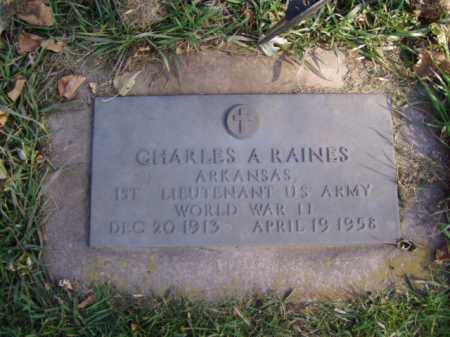 RAINES, CHARLES A. - Minnehaha County, South Dakota | CHARLES A. RAINES - South Dakota Gravestone Photos