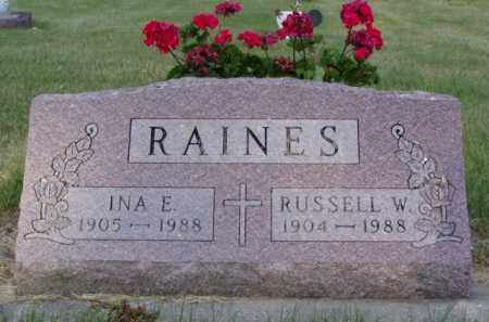 RAINES, RUSSELL W. - Minnehaha County, South Dakota | RUSSELL W. RAINES - South Dakota Gravestone Photos