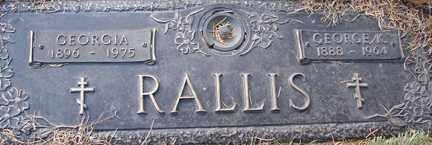 RALLIS, GEORGE A. - Minnehaha County, South Dakota | GEORGE A. RALLIS - South Dakota Gravestone Photos