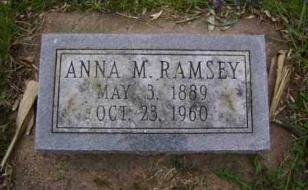 RAMSEY, ANNA M. - Minnehaha County, South Dakota   ANNA M. RAMSEY - South Dakota Gravestone Photos