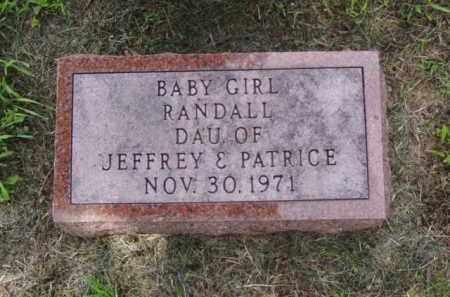 RANDALL, BABY GIRL - Minnehaha County, South Dakota | BABY GIRL RANDALL - South Dakota Gravestone Photos