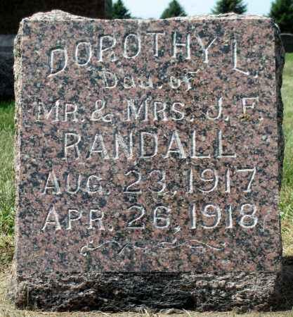 RANDALL, DOROTHY L. - Minnehaha County, South Dakota | DOROTHY L. RANDALL - South Dakota Gravestone Photos