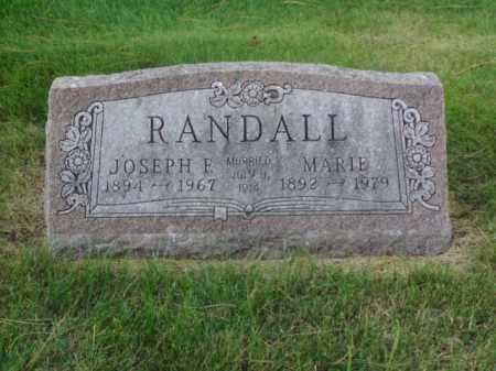 RANDALL, JOSEPH E. - Minnehaha County, South Dakota | JOSEPH E. RANDALL - South Dakota Gravestone Photos