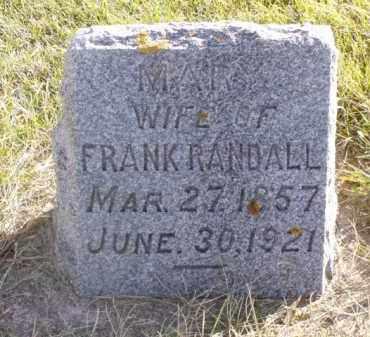 RANDALL, MARY - Minnehaha County, South Dakota | MARY RANDALL - South Dakota Gravestone Photos
