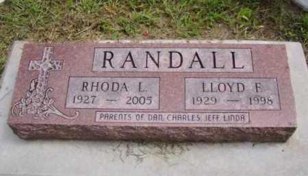 RANDALL, LLOYD F. - Minnehaha County, South Dakota | LLOYD F. RANDALL - South Dakota Gravestone Photos