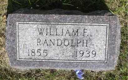 RANDOLPH, WILLIAM F. - Minnehaha County, South Dakota   WILLIAM F. RANDOLPH - South Dakota Gravestone Photos