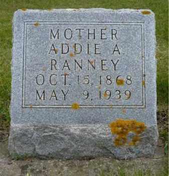 RANNEY, ADDIE A. - Minnehaha County, South Dakota | ADDIE A. RANNEY - South Dakota Gravestone Photos