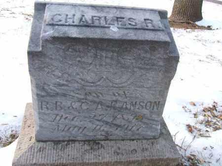 RANSON, CHARLES R. - Minnehaha County, South Dakota   CHARLES R. RANSON - South Dakota Gravestone Photos