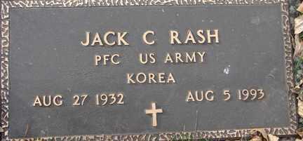 RASH, JACK C. (KOREA) - Minnehaha County, South Dakota   JACK C. (KOREA) RASH - South Dakota Gravestone Photos