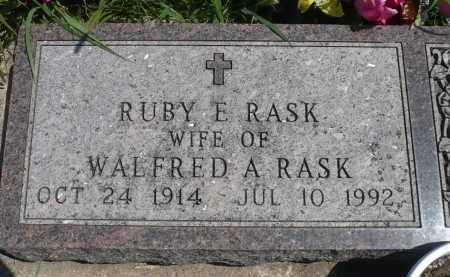 RASK, RUBY E. - Minnehaha County, South Dakota | RUBY E. RASK - South Dakota Gravestone Photos