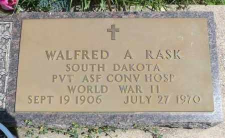 RASK, WALFRED A. (WWII) - Minnehaha County, South Dakota | WALFRED A. (WWII) RASK - South Dakota Gravestone Photos