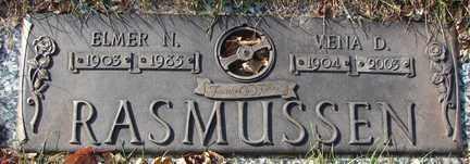 RASMUSSEN, VENA D. - Minnehaha County, South Dakota | VENA D. RASMUSSEN - South Dakota Gravestone Photos