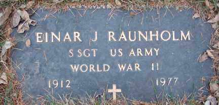 RAUNHOLM, EINAR J. (WWII) - Minnehaha County, South Dakota | EINAR J. (WWII) RAUNHOLM - South Dakota Gravestone Photos