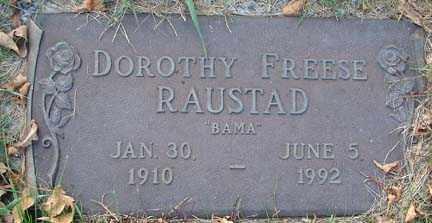 FREESE RAUSTAD, DOROTHY - Minnehaha County, South Dakota   DOROTHY FREESE RAUSTAD - South Dakota Gravestone Photos