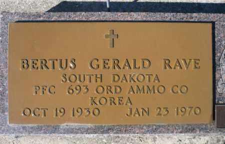 RAVE, BERTUS GERALD (KOREA) - Minnehaha County, South Dakota | BERTUS GERALD (KOREA) RAVE - South Dakota Gravestone Photos