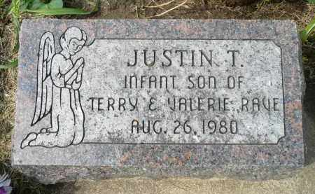 RAVE, JUSTIN T. - Minnehaha County, South Dakota | JUSTIN T. RAVE - South Dakota Gravestone Photos