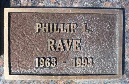 RAVE, PHILLIP L. - Minnehaha County, South Dakota | PHILLIP L. RAVE - South Dakota Gravestone Photos