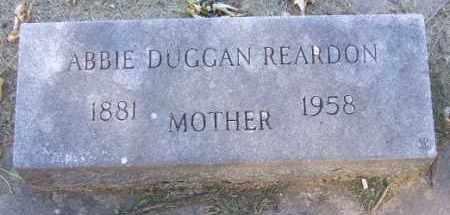 DUGGAN REARDON, ABBIE - Minnehaha County, South Dakota | ABBIE DUGGAN REARDON - South Dakota Gravestone Photos