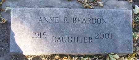 REARDON, ANNE E. - Minnehaha County, South Dakota   ANNE E. REARDON - South Dakota Gravestone Photos