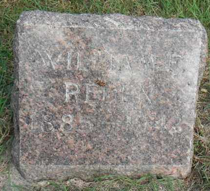 REDEN, WILLIAM F. - Minnehaha County, South Dakota | WILLIAM F. REDEN - South Dakota Gravestone Photos