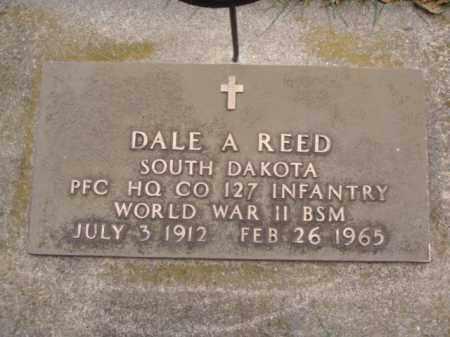 REED, DALE A. - Minnehaha County, South Dakota   DALE A. REED - South Dakota Gravestone Photos