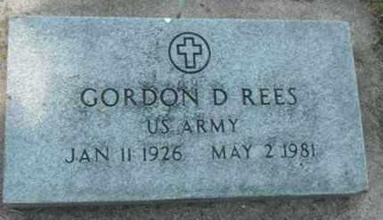 REES, GORDON D. - Minnehaha County, South Dakota | GORDON D. REES - South Dakota Gravestone Photos