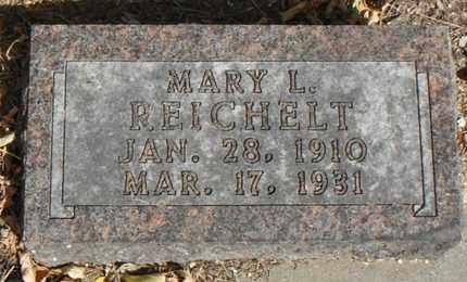 REICHELT, MARY L. - Minnehaha County, South Dakota   MARY L. REICHELT - South Dakota Gravestone Photos
